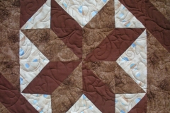 Details of the quilting and piecing