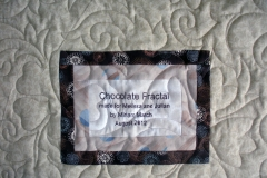 Chocolate Fractals Quilt label
