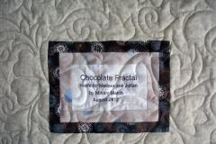 Chocolate Fractals Quilt label