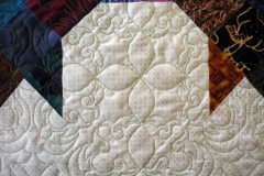 Quilting details in the body of the quilt