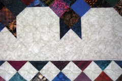 Quilting details of the outer border, and the portion of the quilt inside the border