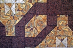 Closeup of the quilting details