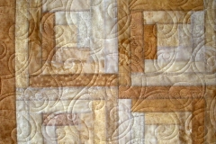 Closeup of the details of the quilting