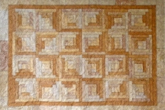 Log Cabin Quilt in Neutrals