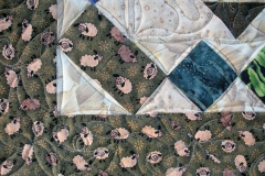Quilting design shown in the two borders