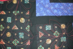 Quilting details in the outer border