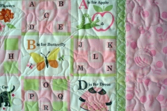 Quilting details showing the borders