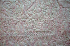 Quilting details shown on the quilt back
