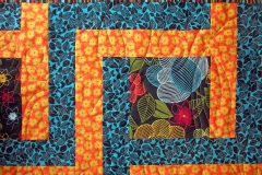 Quilting details of  design used on the inside portion of the quilt