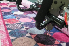 Pretty 'n Pink Quilt on the machine