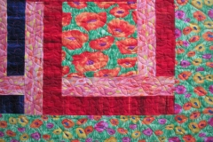 Quilting details in the borders